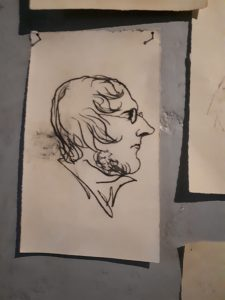 Self portrait by Branwell Brontë